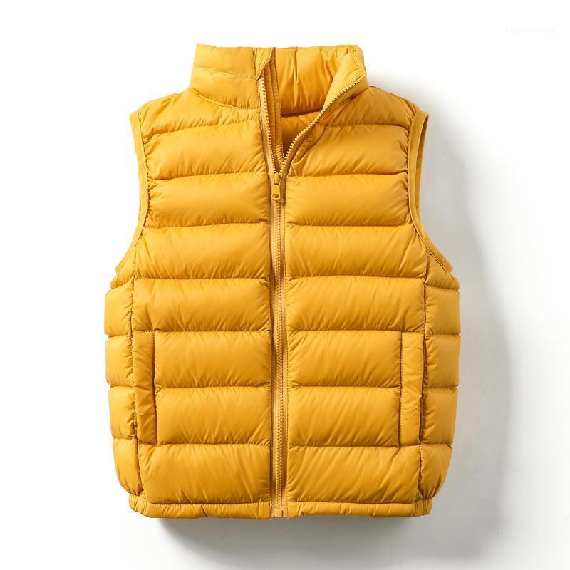 Enfants GiletCoat Bébé Ultralight Winter Hiver Puffy Down Vest Portable Vêtements Vêtements Vêtements Vêtements Vêtements Vêtements De Sans manches Filles 1-14T1