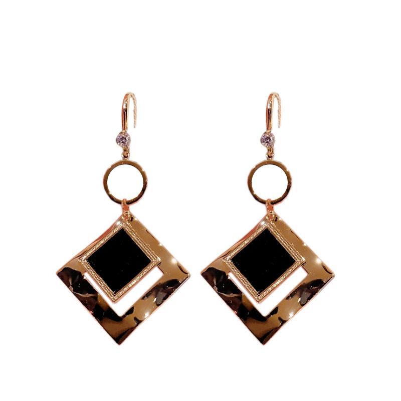 Boucles d'oreilles géométriques de haute qualité Style coréen Boucles d'oreilles géométriques de haute qualité Fashion OL Dame Boucles d'oreilles
