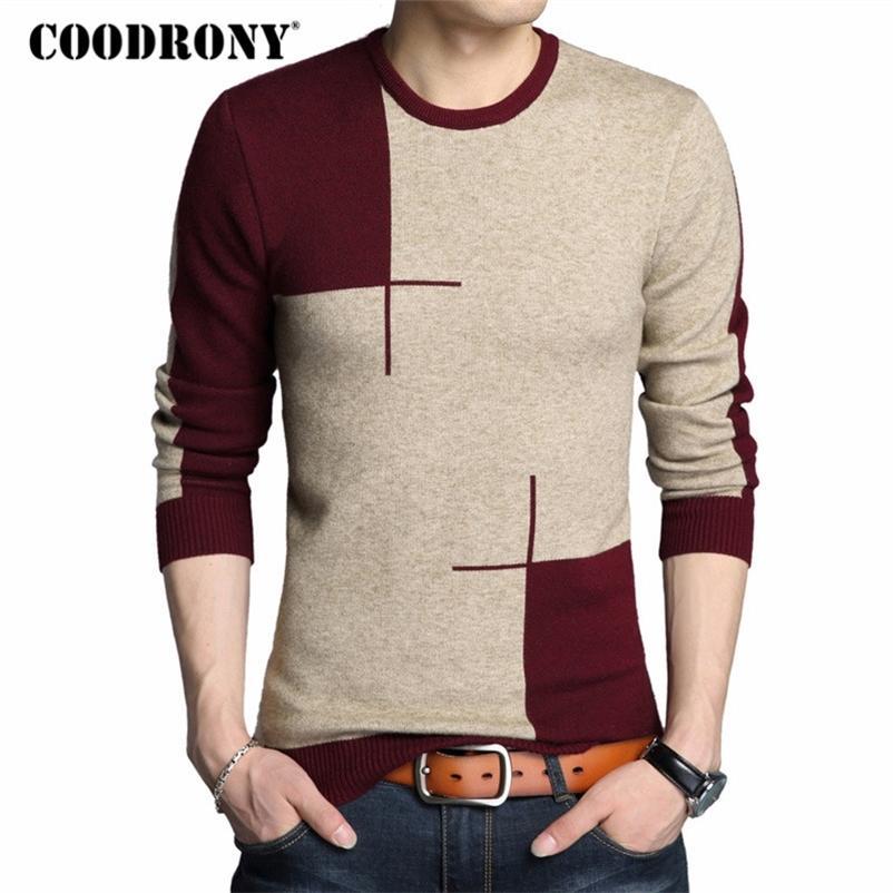 Coodrony Winter Neue Ankünfte Dicke Warme Pullover Oansatz Wolle Pullover Männer Marke Kleidung Strickkaschmir Pullover Männer 66203 201223