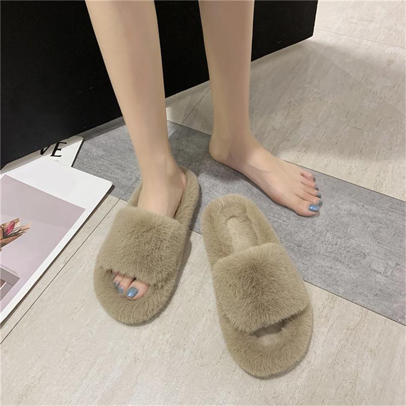 Zapatos de cootelili para mujer zapatillas para mujer zapatos de invierno nueva moda faux piel 1.5 cm zapatillas de talón mujer invierno talla grande 41