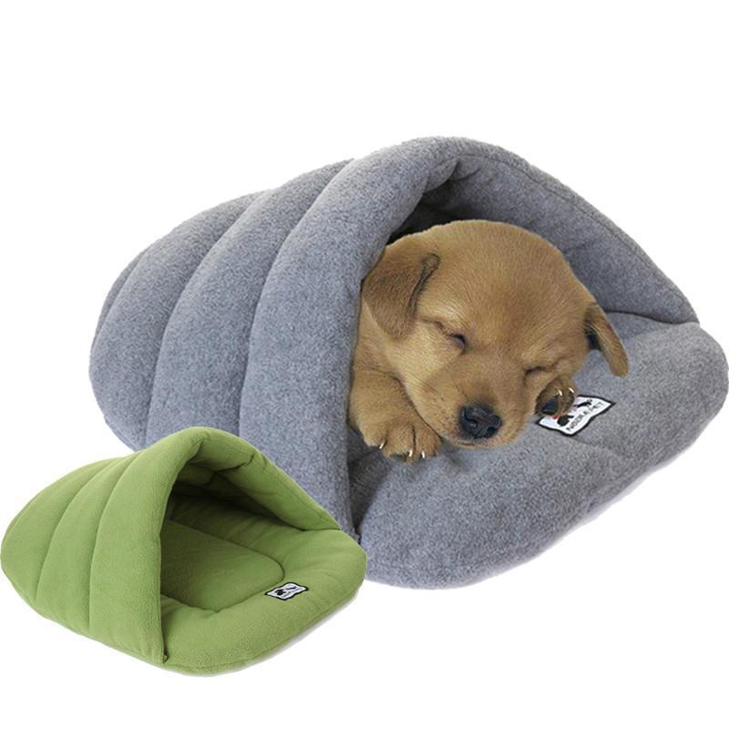 Estilo chinelo inverno morno lã animal de estimação gato dormir sacos cachorrinho pequeno cães de cachorro com almofada pet squirrel hamster casa