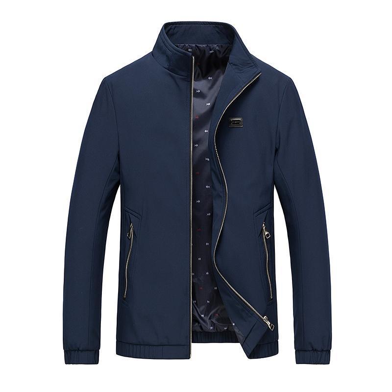 Hommes populaires d'affaires Vestes couleur unie hommes occasionnels Printemps Automne Nouveau Homme Angleterre Manteau Veste mince Chaquetas Hombres
