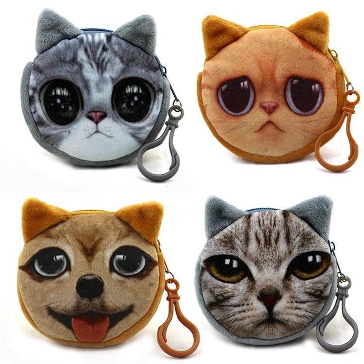 Кошка монета киска сумка мода подходящие держатели котенок милый кошелек Изменить мяу звезды маленькие сумки кошельки кошельки Cluts KBQRB