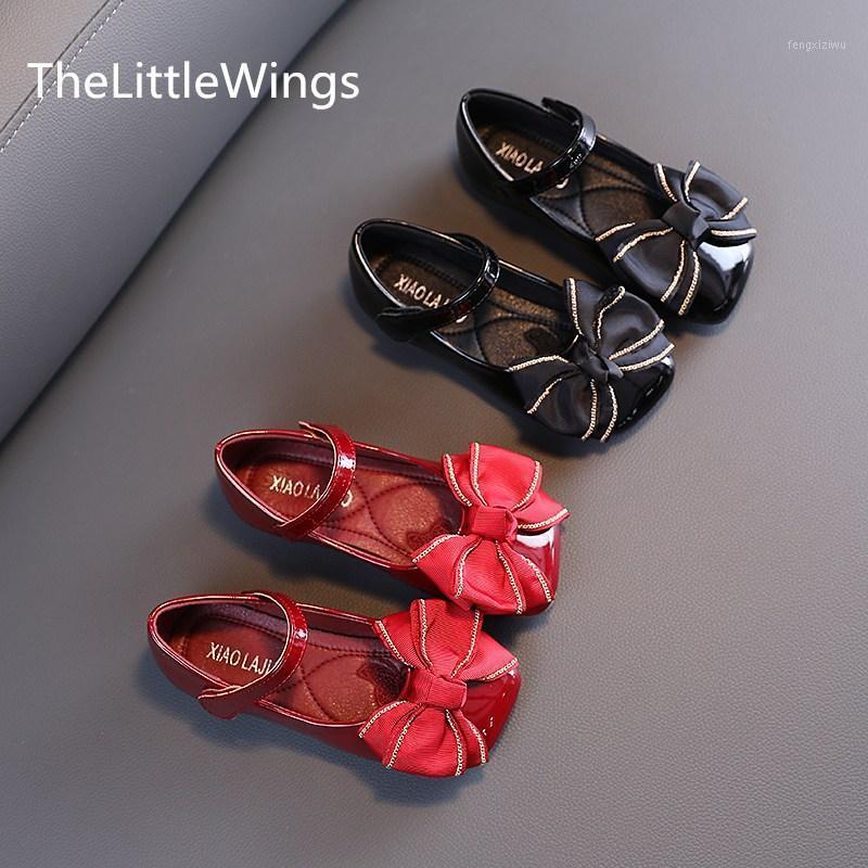 Zapatos de baile para niños primavera 2021 nueva moda bowknot diseño lindo niña princesa rosa fiesta zapatos cómodos 4-9 años1