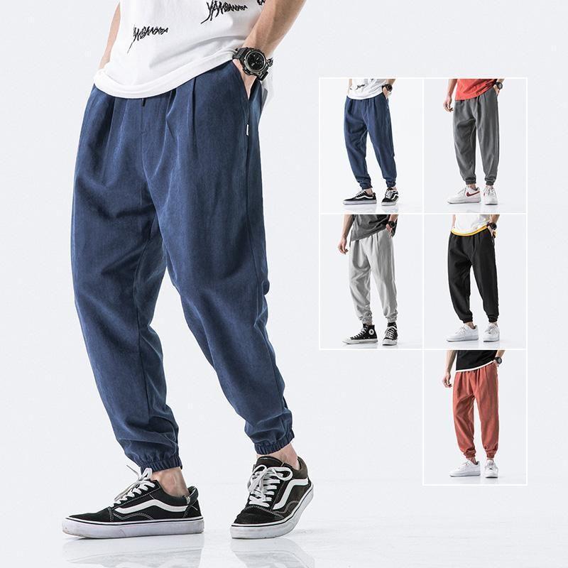 2021 Summer Men Pants Casual Mens Business Trousers Thin Loose Elastic Waist Japan Style Pencil Pants Trousers Men1