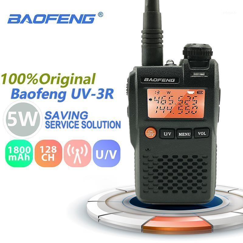 Baofeng UV-3R Mini Walkie Talkie 2W 3.7V Portable Radio UHF VHF Dual Band Hf Transceiver Scanner Radio Amador Handheld Woki Toki1