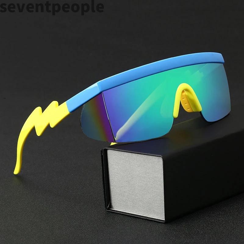 Düzensiz Çerçeve Güneş Gözlüğü Erkek Moda 2020 Tek Parça Düz Üst Doğa Sporları Yarış Güneş Gözlükleri Kadın UV400 Gafas De Sol Mujer