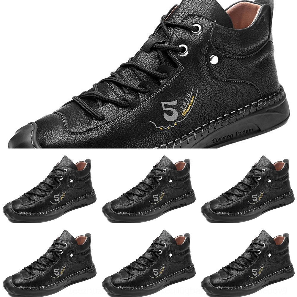 e3V8E Große Superfaser hoch oben beiläufige Schuhe Herbst Winter 2020 neue koreanische Version der Männer beiläufige Schuhe handgenäht