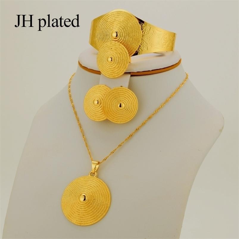 مجموعات هدايا للمرأة أزياء الأفريقي دبي الذهب لون مجوهرات مجموعة الفرنسية قلادة أقراط الزفاف collares المجوهرات 201225