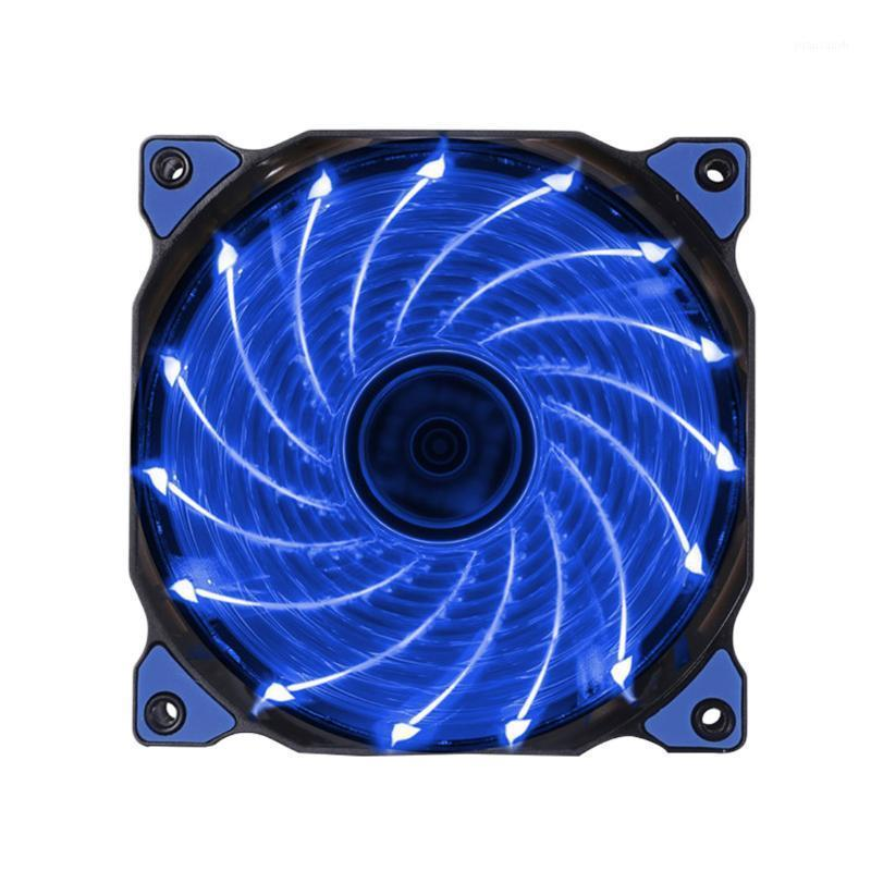 Etmakit 120mm LED Ultra Computer Cooler Silent Computer PC Case Fan 15 LEDs 12V With Rubber Quiet Connector Easy Installed Fan1