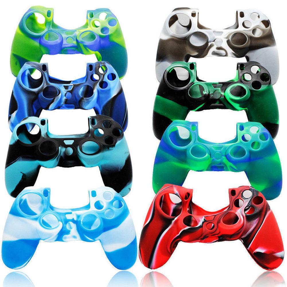 Camuflagem Soft Silicone Cover Case Proteção Cama Camo Sleeve PlayStation 4 Controlador para PS4 Gamepad de Alta Qualidade FA