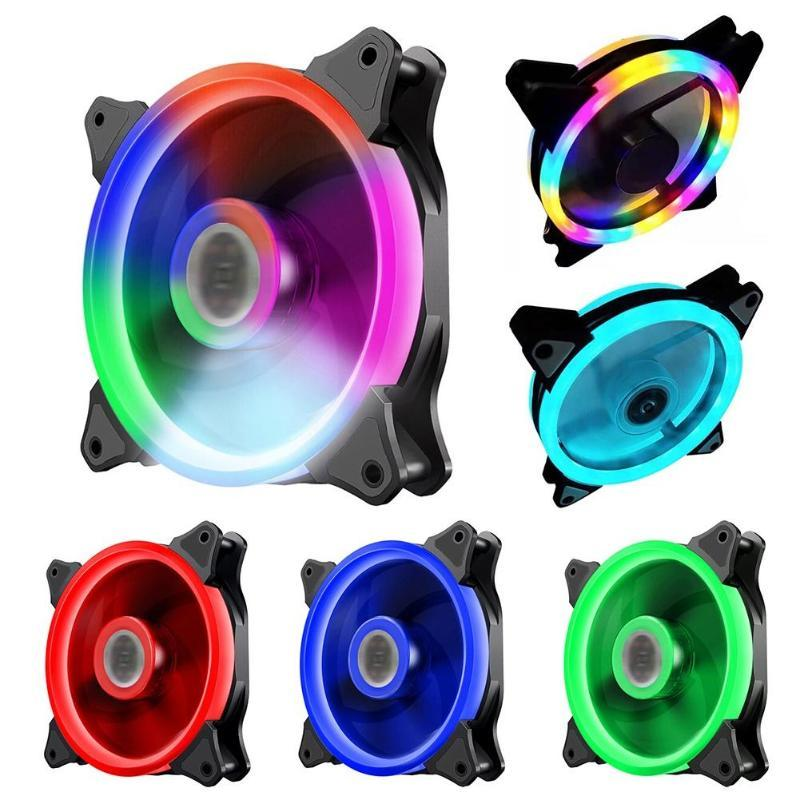 Refriginaciones de ventiladores 120 mm de refrigeración por computadora FAN RGB PC Funda Radiador Ajustable LED Sentador de calor Colorido refrigerador tranquilo para