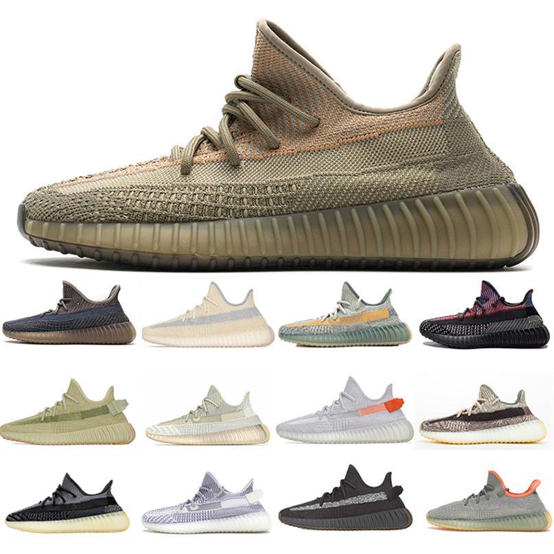 Top 2021 Kanye West Sand Taupe V2 Homens Mulheres Running Sapatos Sneaker Yechheil Brilho Cinzeiro Cauda Deserto Sábio Preto Estático Reflexivo Zebra