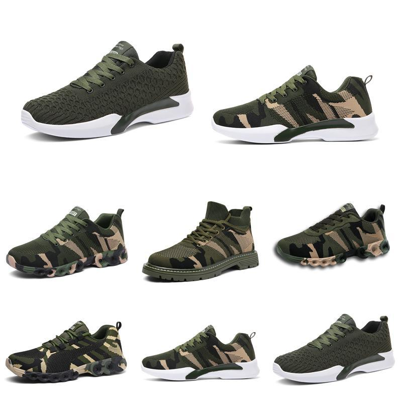 001Well Sale No-Brand Designer Shoes Men Women Casul Shoes Camouflage Army Green Outdoor Trainer Siez 35-44 Style 17