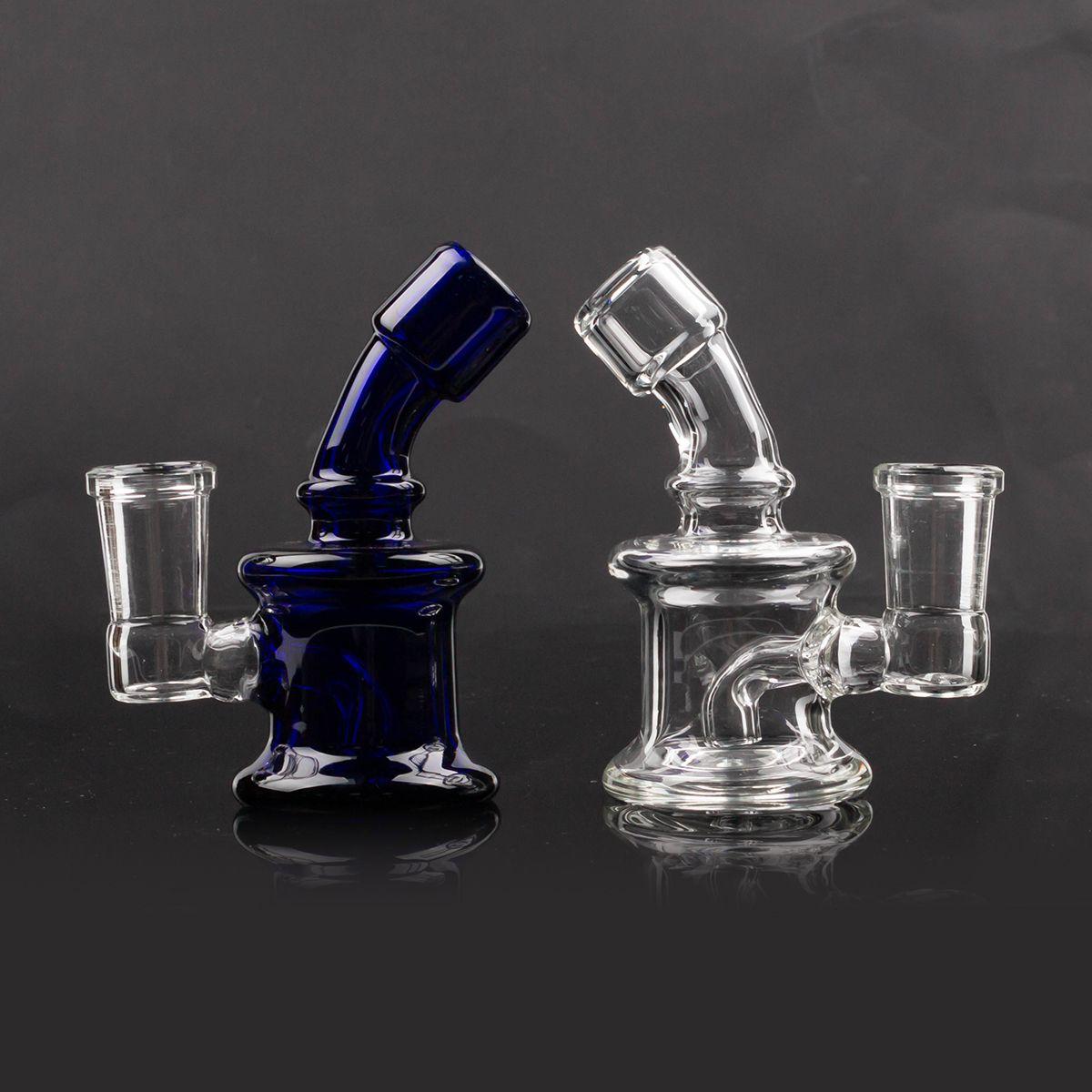 Hookahs Glass Dab Rigs 14mm Feminino Beaker Bongo Tubulação Pequena Reciclador Pyrex Dólatos De Água Acessórios Para Fumar