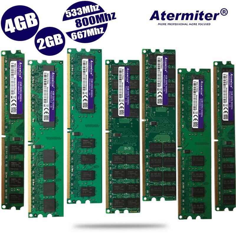Новый 2GB 4GB 2G 4G DDR2 PC2-6400 PC2 5300 4200 800MHz 667MHz 533MHz для настольных ПК DIMM Памяти RAM 240 штырей совместимых систем