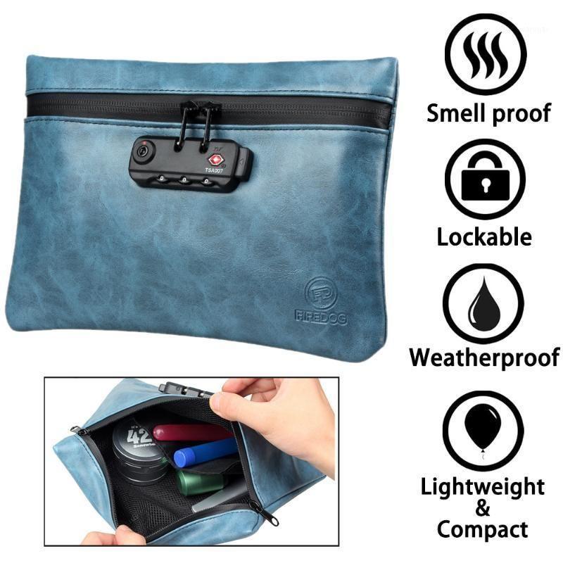 أكياس الرائحة والدليل مع مزيج قفل الجلود التدخين رائحة خبأ ماء الحاويات تخزين case1