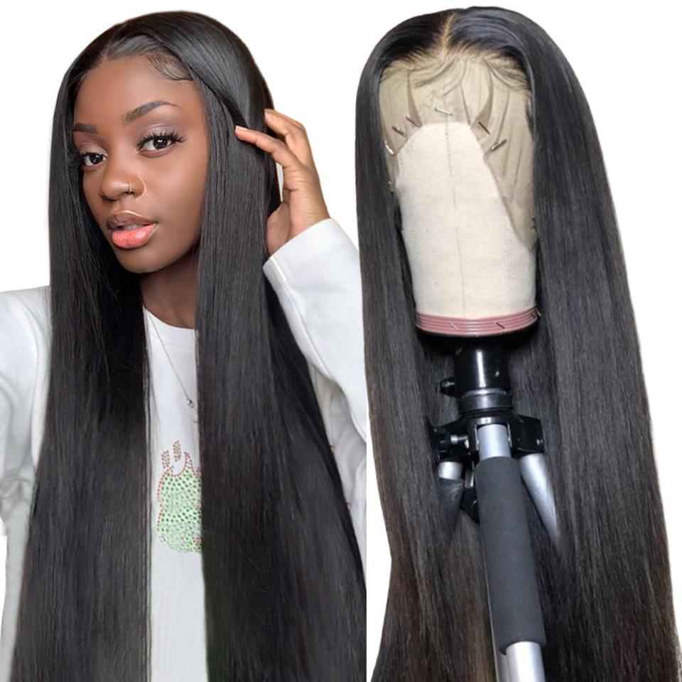 Тело волны кружева фронтальный парик предварительно сорванный с детскими волосами Remy бразильский 13x6x1 t кружева передний парик прямой кружевной фронт человеческих волос парик