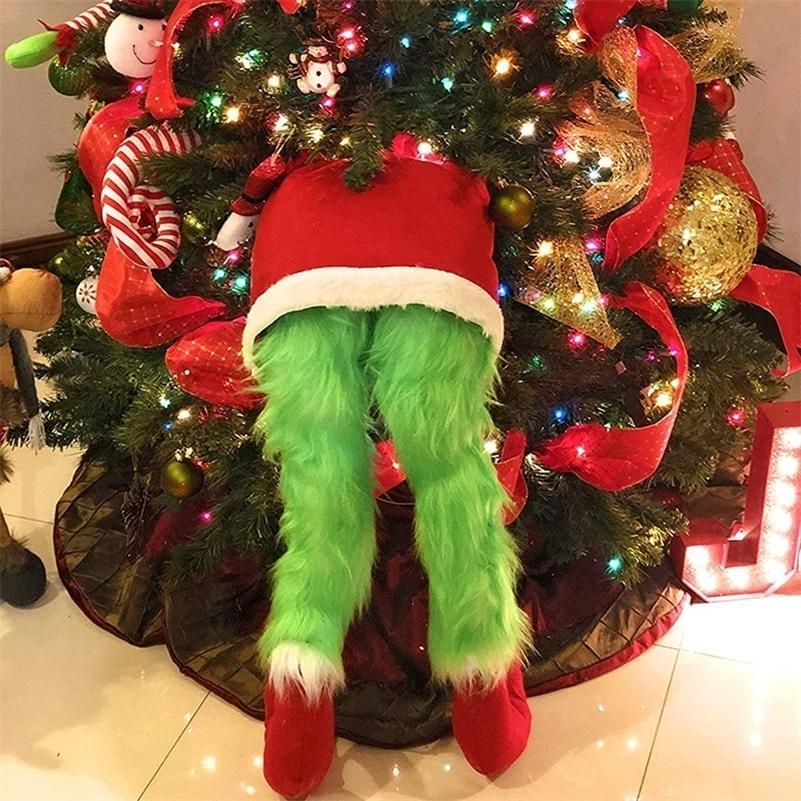 En stock Corps elfe pour décorations d'arbres de Noël peluche poupée peluche pour arbre de Noël fête de vacances livraison gratuite 201128