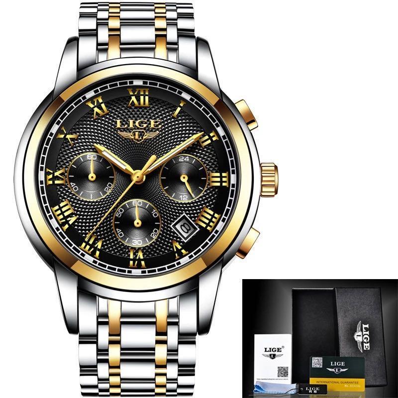 2020 Lmjli-Top Brand Mens Спортивные Часы Хронограф Водонепроницаемый Кварцевые Наручные Часы Мужские Часы Relogio Masculino Бесплатная Доставка