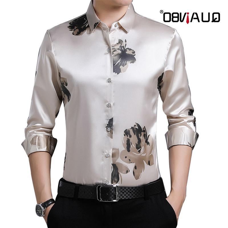 Quanbo 2020 Yeni erkek Düzenli Uzun Kollu Poplin Erkekler Moda Priting Casual Slim Fit Siyah Gömlek Adam Elbise Gömlek