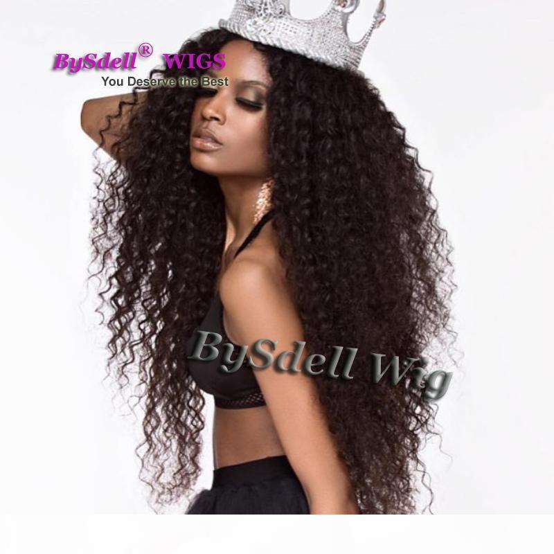 Pelucas rizadas de color marrón oscuro de color marrón oscuro para mujeres negras de negro 2 # color de encaje sintético de color pelucas delanteras al por mayor perruque pelucas afroamericanas