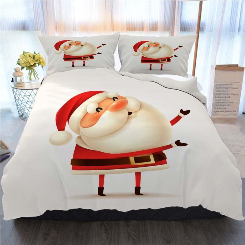 Санта-Клаус Горячие продажи Мода комплект постельных принадлежностей с буквами Санта Luxury Одеяло Обложка Наволочки Queen Size дизайнерская кровать стеганое Sets 118