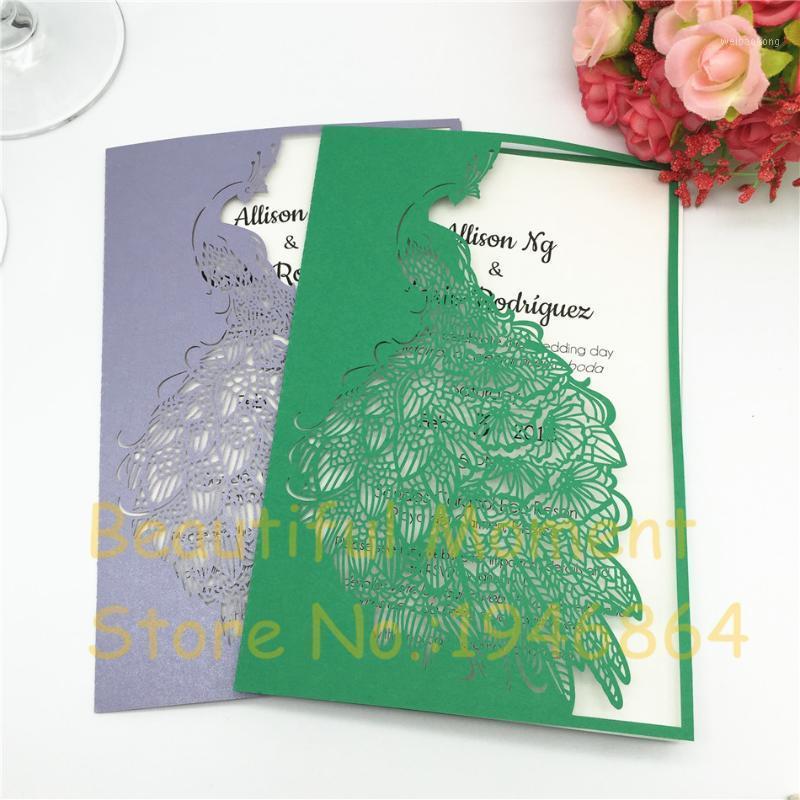 50pcs cartes de mariage de mariage invitations de mariage Sauvegarder la date Cartes postales de la décoration élégante Nouvel An Carte de voeux Fournitures1