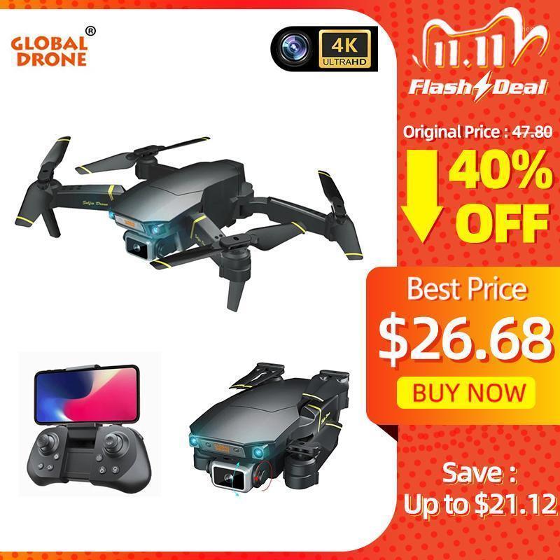 Drone avec caméra HD 4K Hélicoptère Hélicoptère Fiplôtable Quadrocoptère obstacle Sensing Selfie Drones Réglable Gimbal Dron vs E58 SG1061