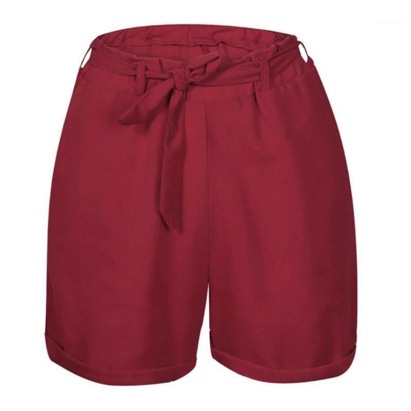 Pantalones cortos para mujer Jaycosin 2021 Moda Mujeres Pantalones sexy Verano Casual Pantalón corto sólido con caída de cinturón Julio 101