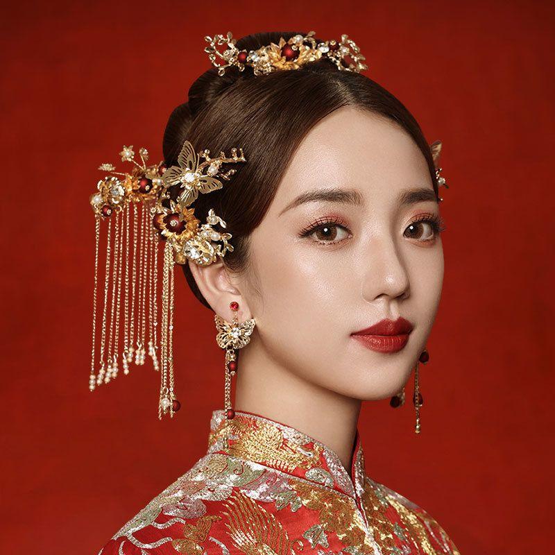 mPhoenix cocar 2020 novo estilo Hefu mostrar Hanfu coroa Xiuhe e simples atmosfera k