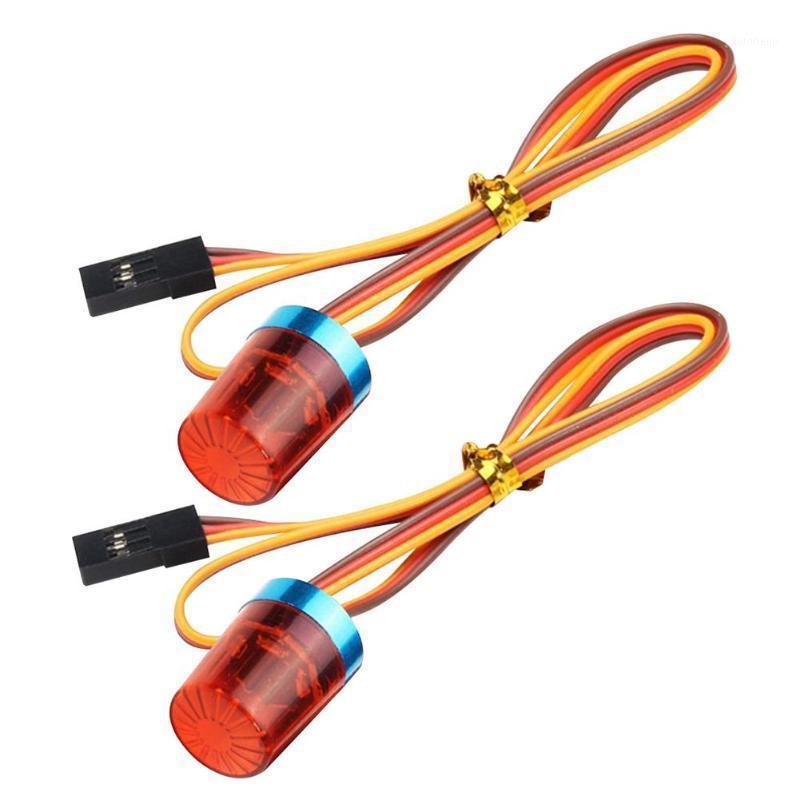 Interiorexternal 조명 2pcs RC 모델 자동차 트럭 차량 깜박임 LED 경고등 경보 램프 인테리어 액세서리 도매 1