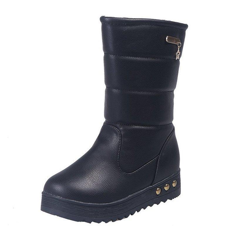 Wertzk stivali da neve stivali da donna stivali da donna cowboy per le donne inverno comodo casual scarpe femali cadute 2020