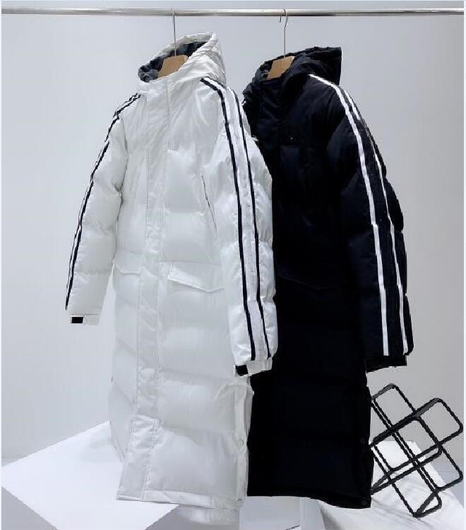 Männer und Frauen Beiläufige verdickte warme warme lange Daunen gepolsterte Jacke mit mit Kapuze winddicht und regendicht langärmlige Jacke versandkostenfrei