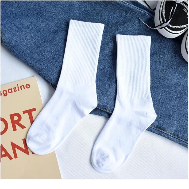 Calcetines largos de hombres y mujeres de las mujeres Versión coreana de instangulario clásico estilo silvestre estilo silvestre color sólido tu jllknf
