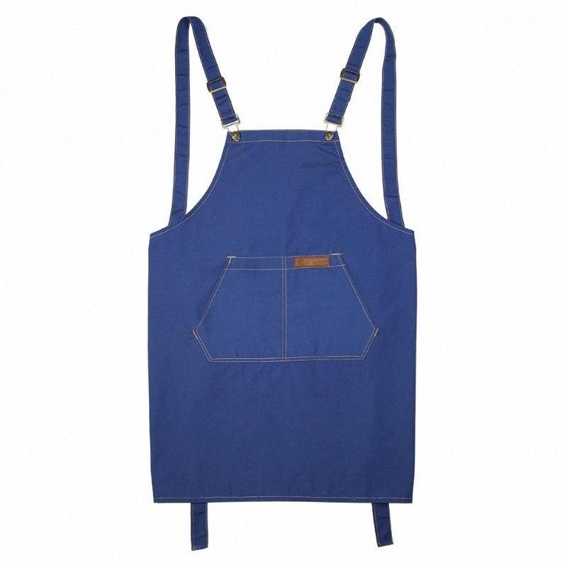 Unisex regolabile Grembiule Fibbia in metallo Non Fading Tela di cotone impermeabile grembiule della cucina della casa cucina cottura Accessori strappato #