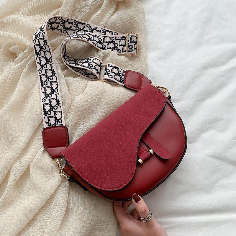 2020-Netzwerk rot breitbandigen bagcrossbar bagfemale kreuzen baglovely ins Mädchen Satteltasche Sattels bagsingle Schulter 7Jcgi