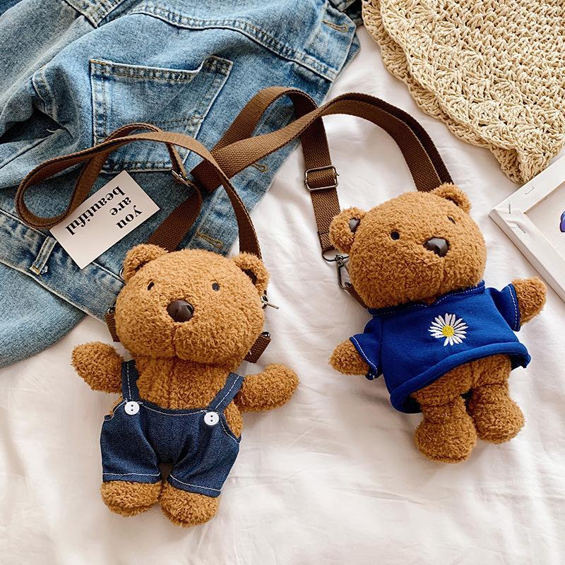 8 дюймов животных куклы Плюшевые мишки игрушки медведь рюкзак игрушка ребенок 2020 горячий продавать маленький и изысканный подарок ребенку
