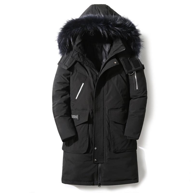 90% Giù Giacche Nuovo Giacca da uomo in inverno Piumino da uomo di alta qualità Collare di pelliccia rimovibile di alta qualità Spessa calda calda eventual all'aperto eventual 201226