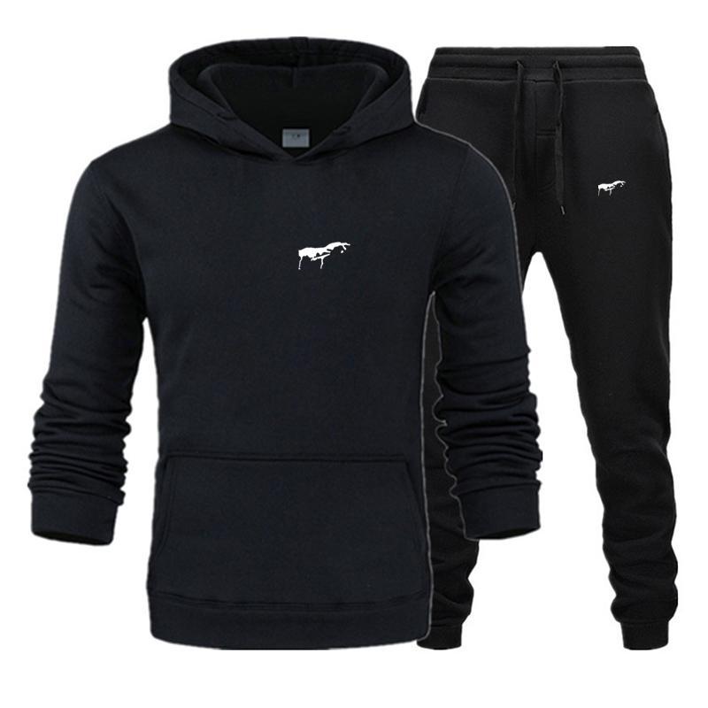 2020 männer trainingsanzug neue sportswear sets winter 3xl lässig kleidung große größe frau zweiteilige anzug hoodies sweatshirt + joggers hosen