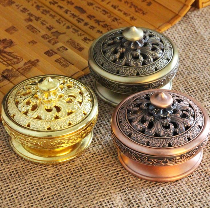 البخور المعادن الموقد الإبداعية الرجعية سبيكة المصبون للوازم البوذية البلاطية هدايا ديكور المنزل متعدد الألوان SN2258