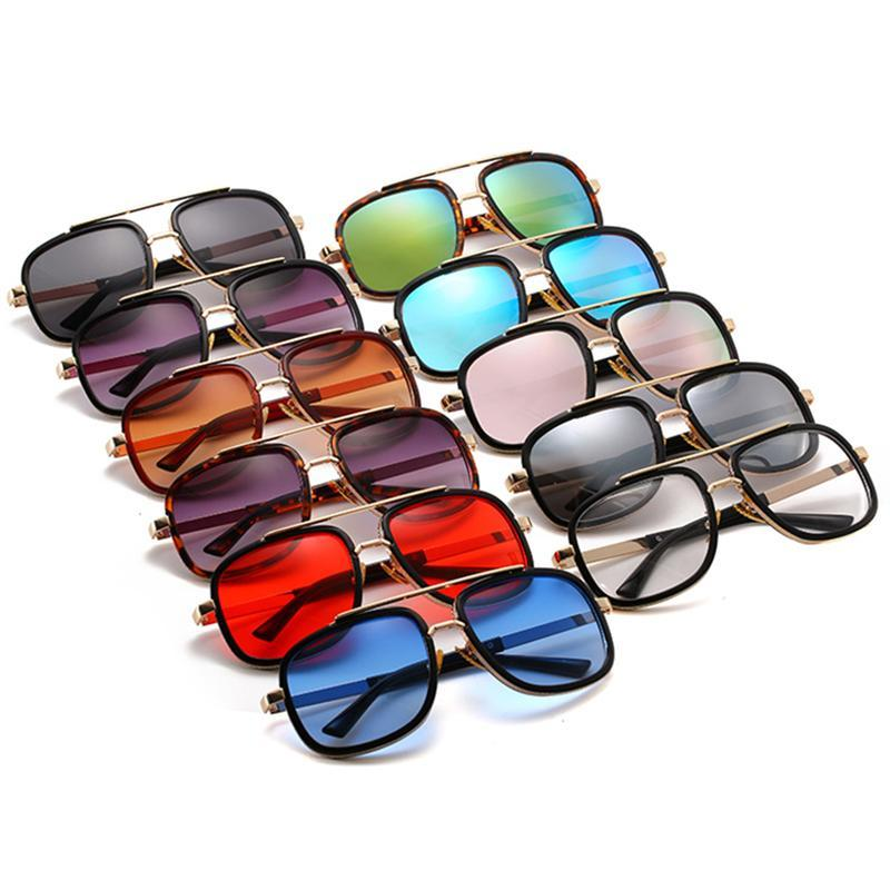 Sunglasses Fashionable Men's Thick Frame Outdoor Tourism Beach Large Classic Square