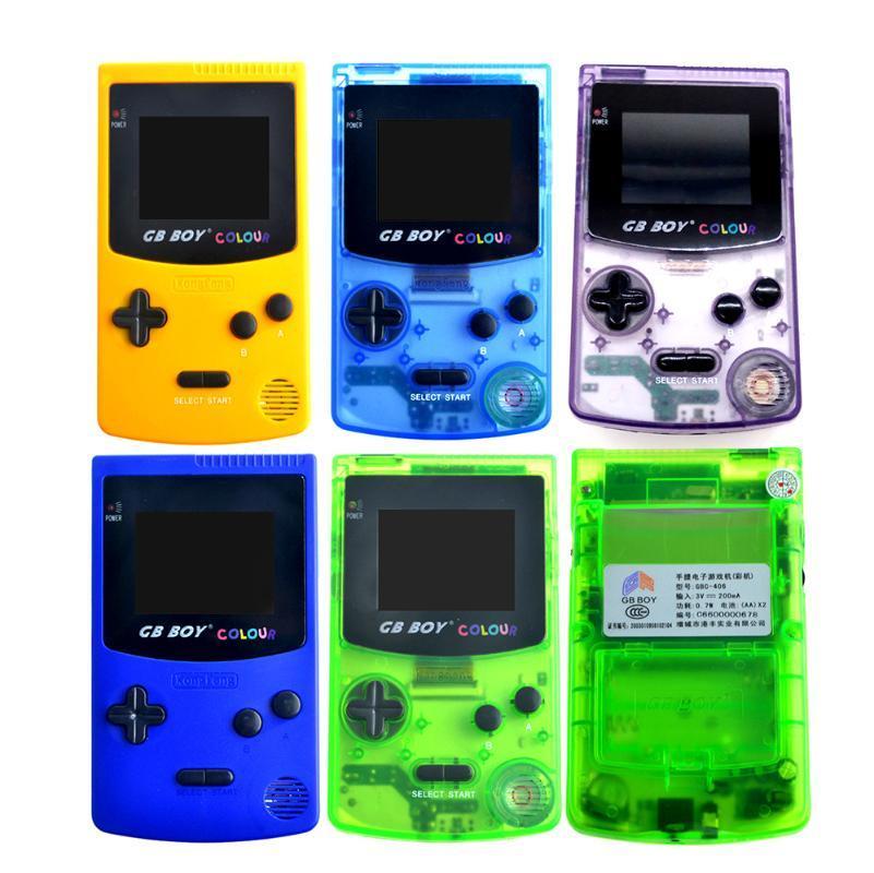 """GB Boy Color Portatile Colore Game Console 2.7"""" a 32 bit del gioco console portatile con retroilluminazione 66 Giochi incorporati Supporto Standard scheda"""