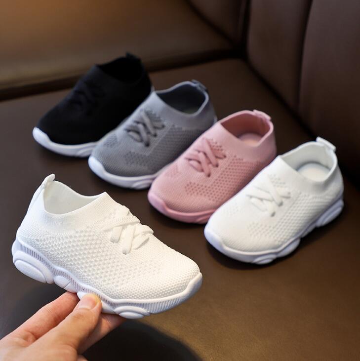 Chaussures enfants anti-dérapant en caoutchouc souple Bas bébé Casual Sneaker Chaussures Sneakers plat taille enfants Kid Filles Garçons Chaussures de sport