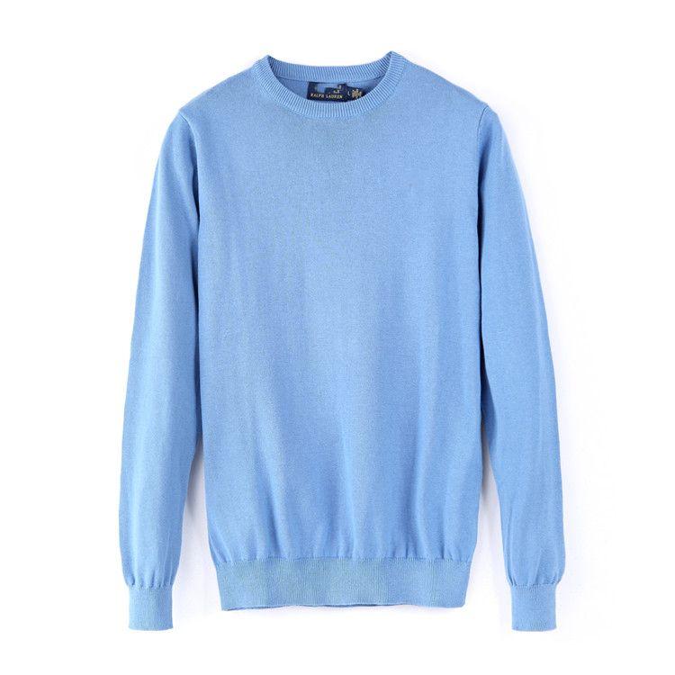 ralph lauren Diseñador para hombre Primavera y otoño Pequeño caballo Marca suéter para hombres V cuello Color sólido Sweater de manga larga Sweat Casual Hombres Clottingotzu