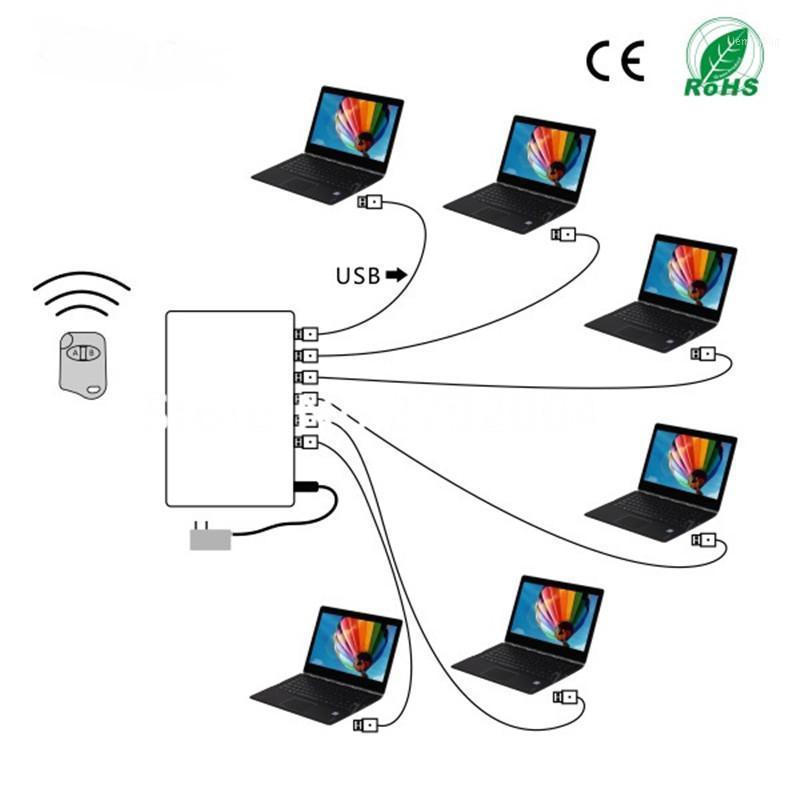 6 PORT Ordinateur portable Security Alarmes d'affichage de l'ordinateur Système d'affichage de l'ordinateur portable ALARMARD ALARMART ANTI-THEFT POUR VÉTEURS Boutique avec télécommande1