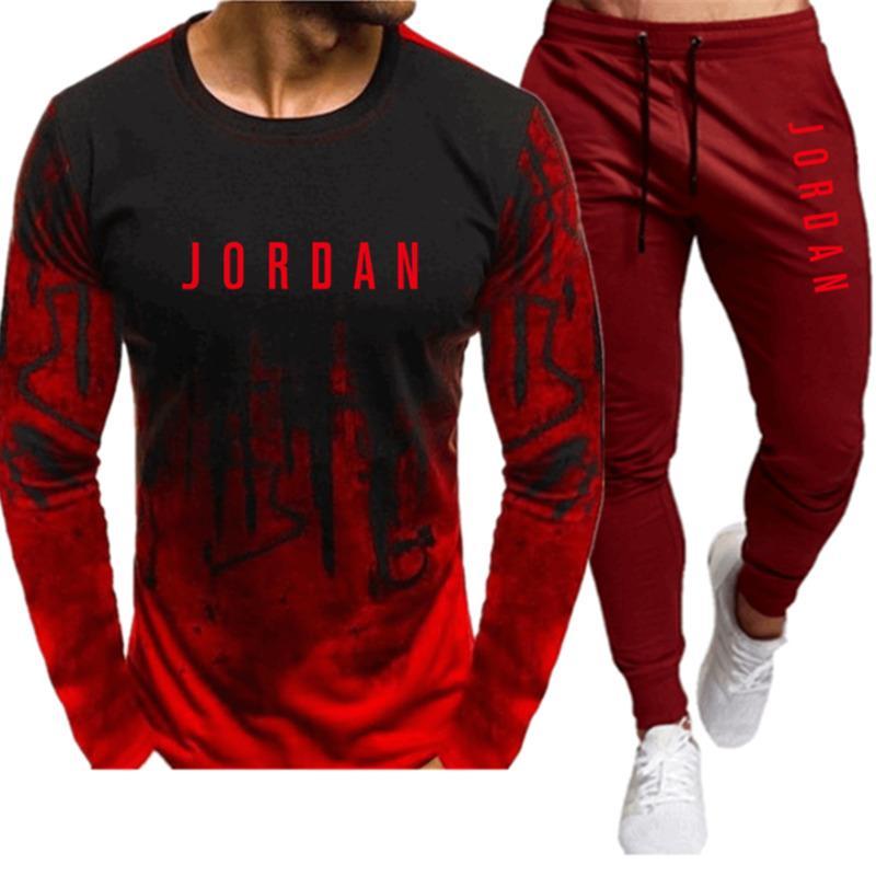 New Men's Felpa con cappuccio Lettera stampa con cappuccio Plus Cashmere Casual Maglione Sportswear Suit