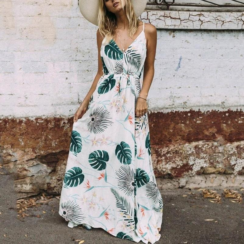 Sommer Frauen Schwangerschafts-Ärmel Straps-Blatt-Druck-Kleid Schwangerschaft Sommerkleid weg von der Schulter langen Schwangerschaft Kleider JZjZ #