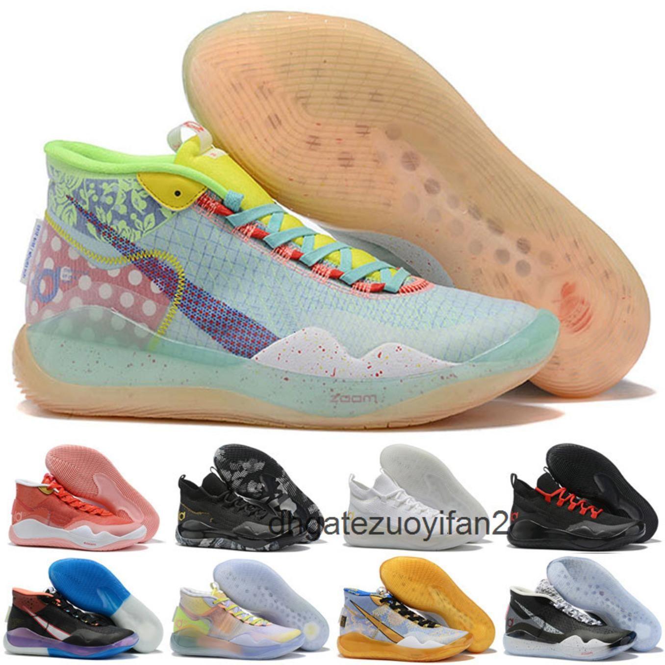 Hot Boys KIVIN KEVIN DURANT KD 12 12S MENS KD12 XII Entrenadores Zoom Jóvenes Chicas Mujeres Zapatillas de baloncesto Elite Deporte Zapatillas deportivas