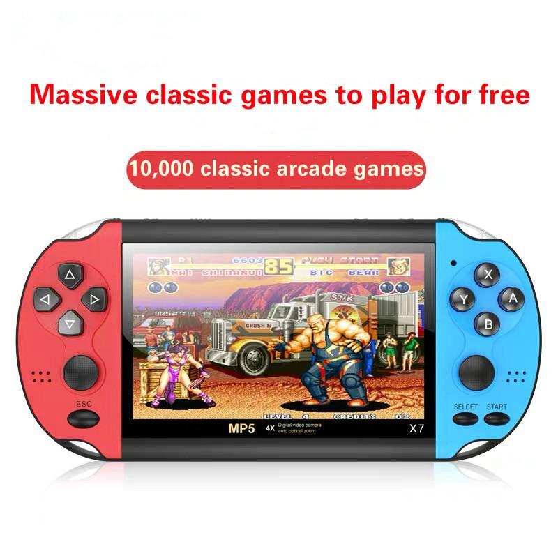 Hot Handheld Game Console NOSTALGIC 4.3 pulgadas HD Screen Screen 8G Double-Rocker X7 Classic Game Retro Mini Handheld Mp5 Videojuego